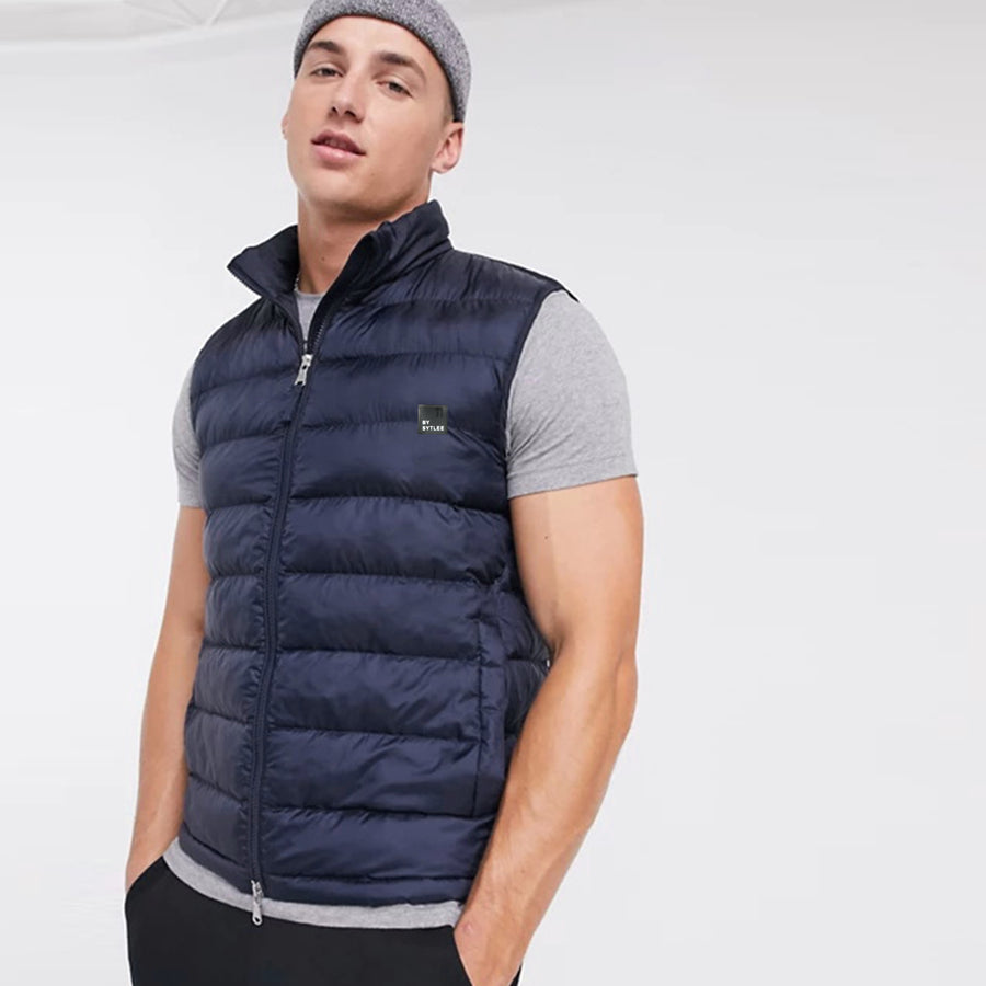 Funkys Brave One Puffer Navy Random Gillet