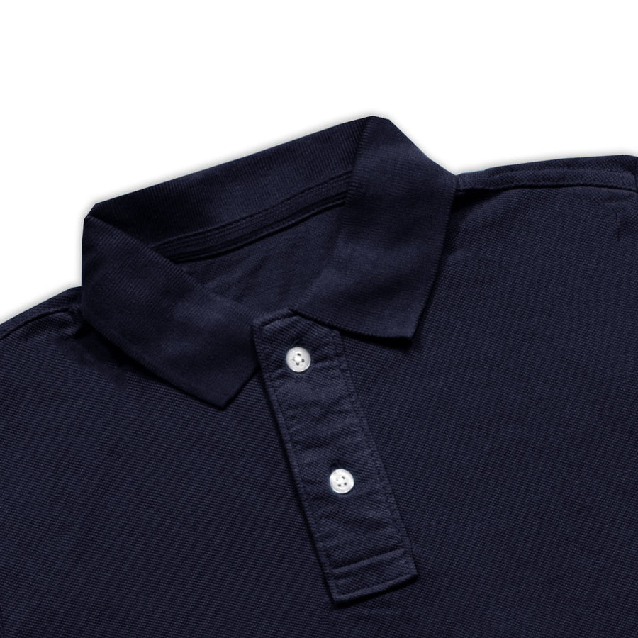 BOYS DARK NAVY PIQUE PLAIN POLO SHIRT (3 YEARS TO 12 YEARS)