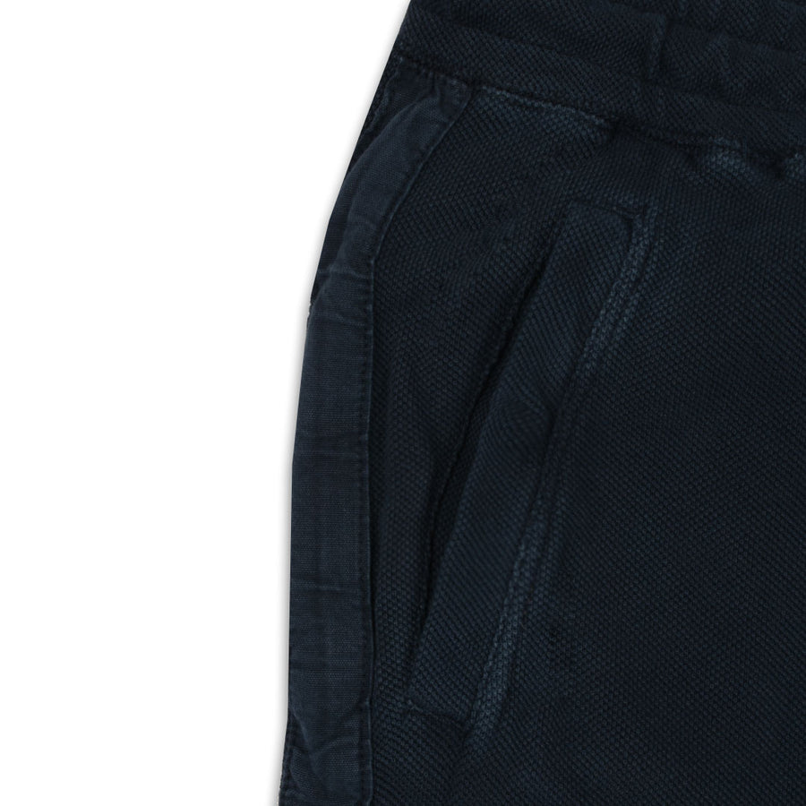 PIQUE DOUBLE TECH SLIM FIT NAVY JOGGER PANTS