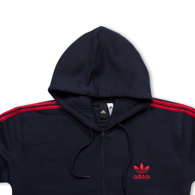 NAVY RED STRIPED TRACK SUIT