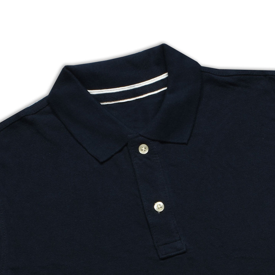 BOYS DARK NAVY PIQUE CLASSIC POLO SHIRT WITH MINOR FAULT (8 YEARS TO 12 YEARS)
