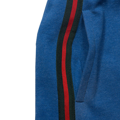 SIDE STRIPED Blue ZIPPER BOTTOM TROUSER