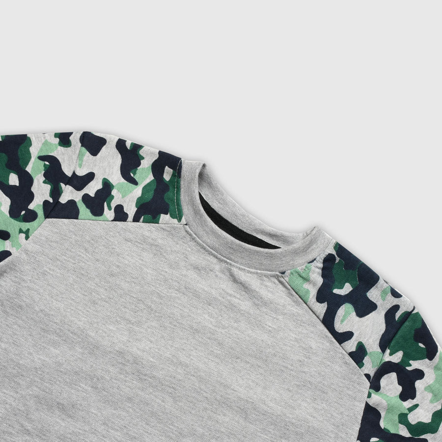 BOY'S CAMO CREW NECK SWEATSHIRT ( 3 YEARS TO 12 YEARS )