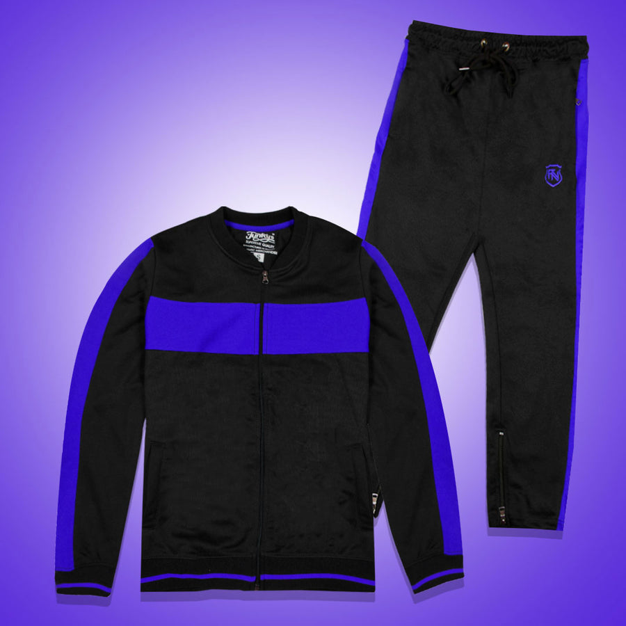 Funkys Gravity Show Contrast Panel Blue Track Suit