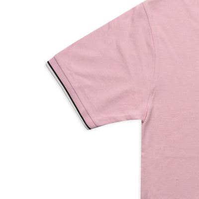 Funky's Tipped Collar Light Pink Pique Polo Shirt