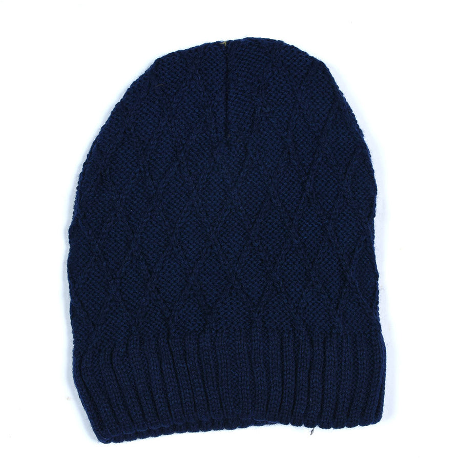 Cross Line Inside Fur Beanie