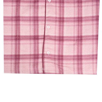 Women's Oxford Check Night Wear Pink Suit