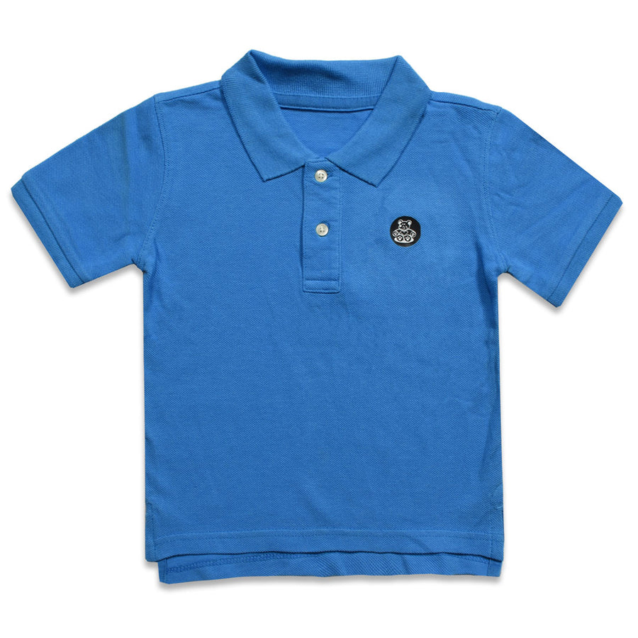 BOYS TEDDY BEAR LOGO PATCH POLO SHIRT ( 2 YEARS TO 6 YEARS)