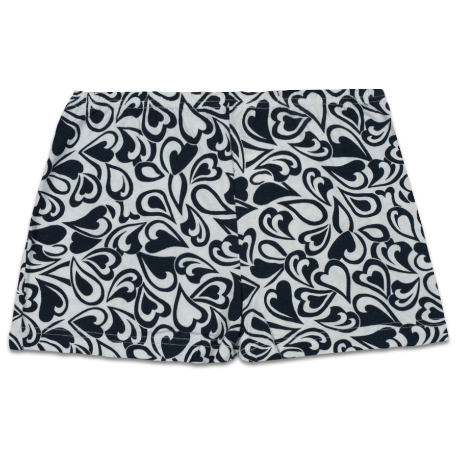 Gender Neutral Night Wear/ Under Wear Dark Navy Printed Jersey Boxer