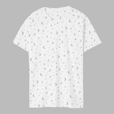 All Over Printed White Tee