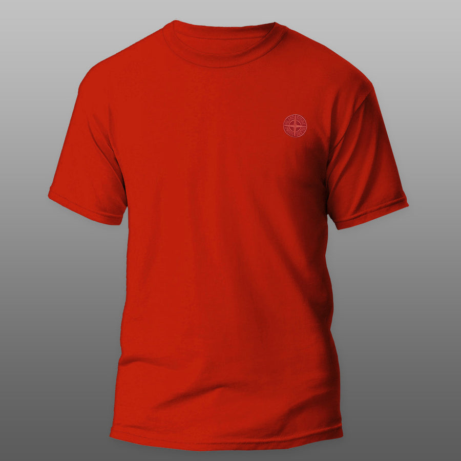 Red Round Neck Premium Logo Tee