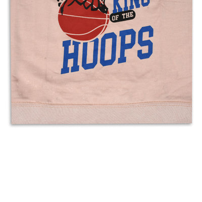 kid's Kings of the hoops Printed Baby Pink SweatShirt (1 YEARS to 12 YEARS)