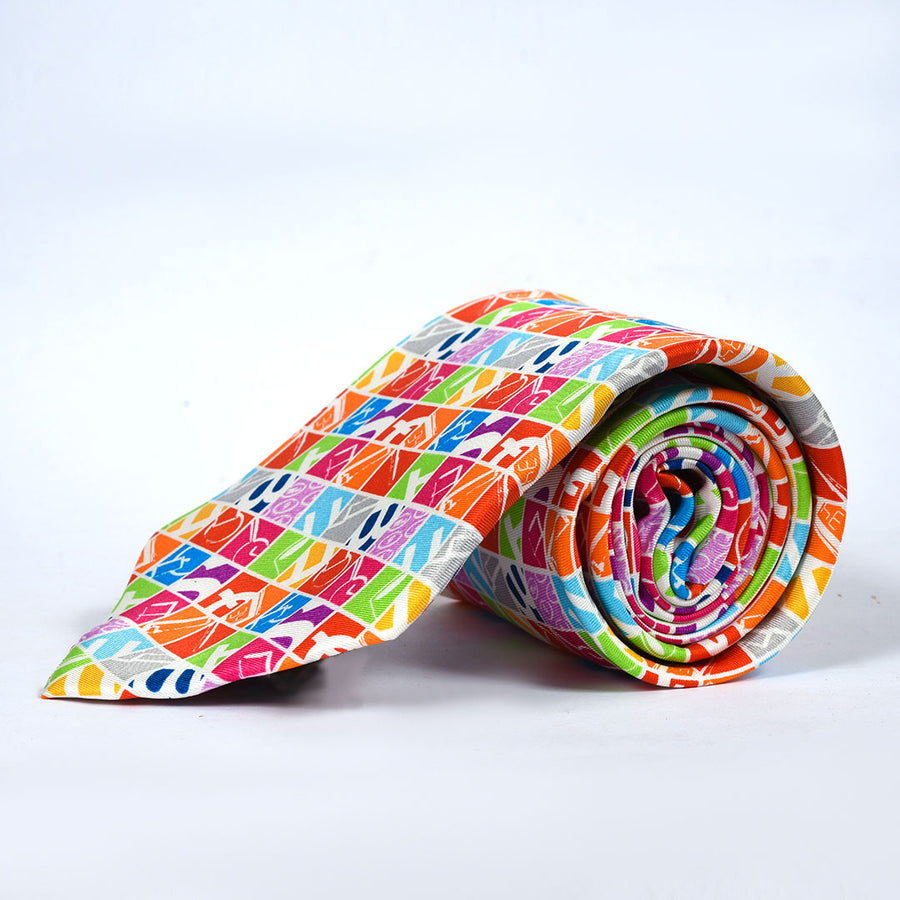 Color Block Silk Tie