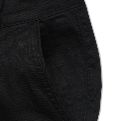 Skinny fit Vintage Jet Black Cotton Pant