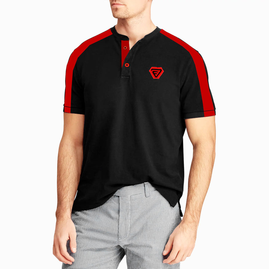 Round Neck Placket Polo