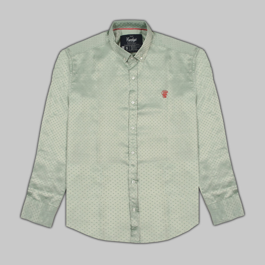 FUNKYS Square Dots BUTTON DOWN SHIRT