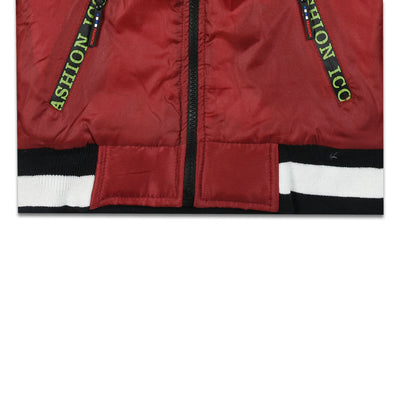 Kids Maroon Puffer Jacket (3 YEARS - 8 YEARS)