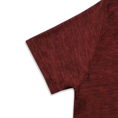DRY FIT MAROON PRINTED LOGO CREW NECK T-SHIRT