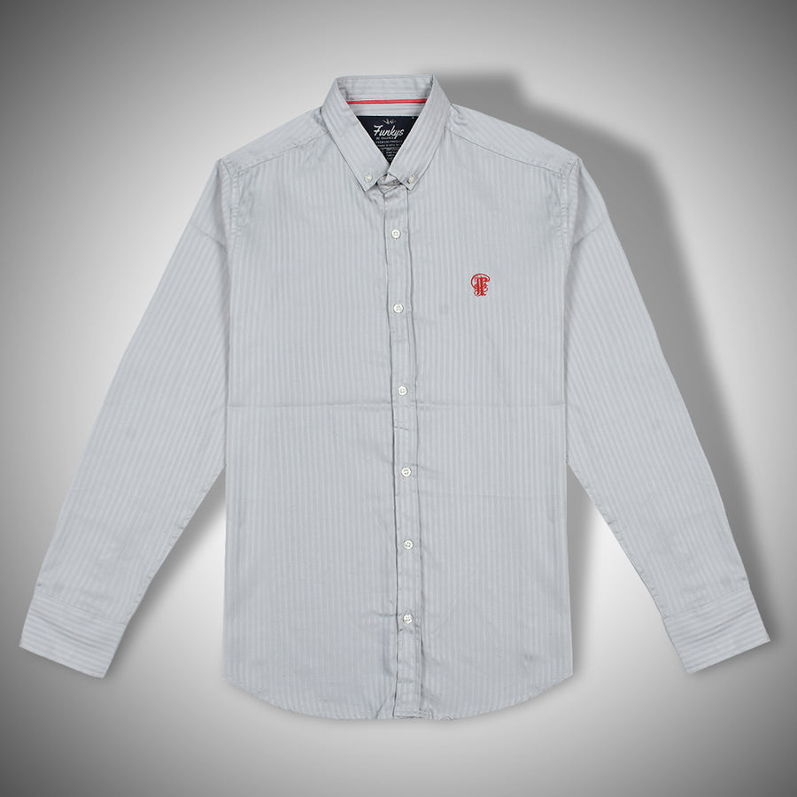 Funkys Grey Oxford button down shirt