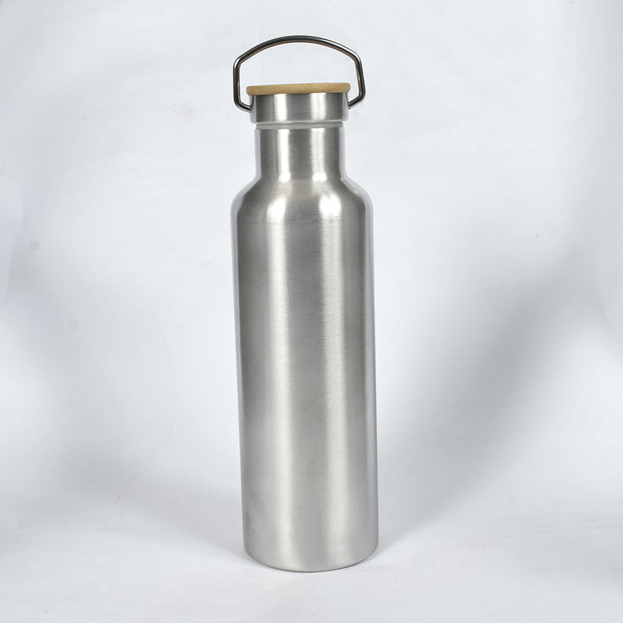 Wood top Stainless Steel Water Bottle (1 Liter)