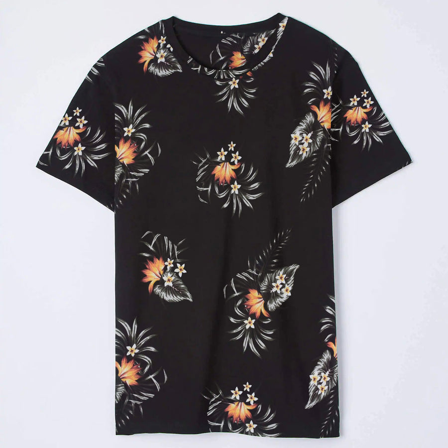 All over floral pattern tee