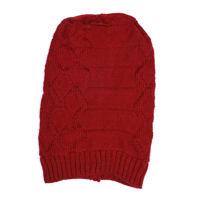 Self Prisim Knit Inside Fur Beanie