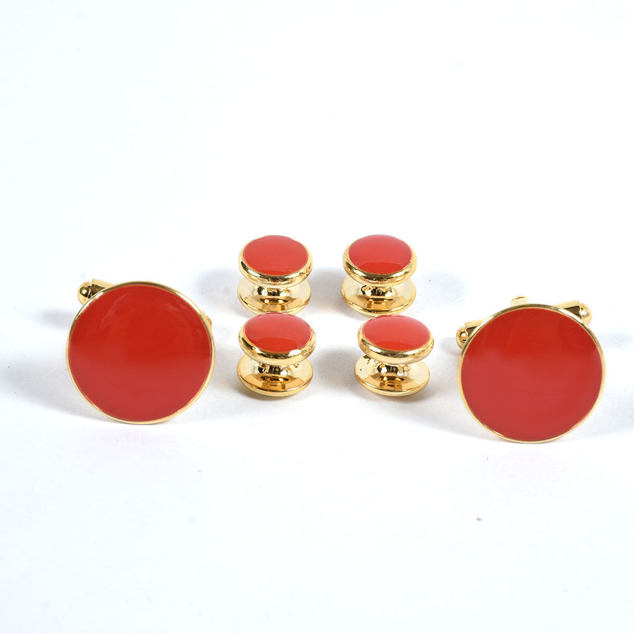 Red Stone Stylish Cuff Links