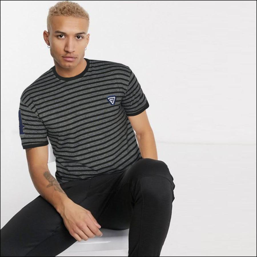 FUNKY'S Parallel  STRIPES CONTRAST COLOR T-SHIRT