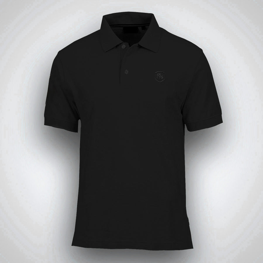 Funkys Decade Slim Fit Black Polo