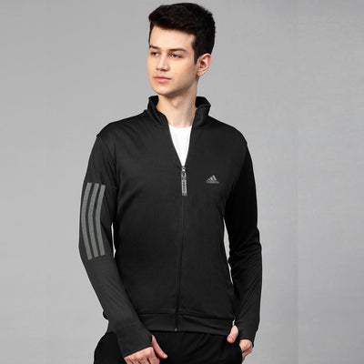 Reflector Stripes Track/Training Black Jacket