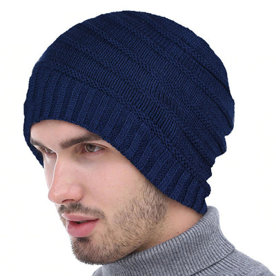 Vertical border inside fur beanie