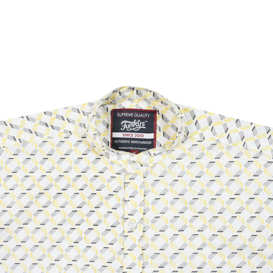 Funky's Printed Rage YELLOW Lift Shirt WITH MINOR FAULT