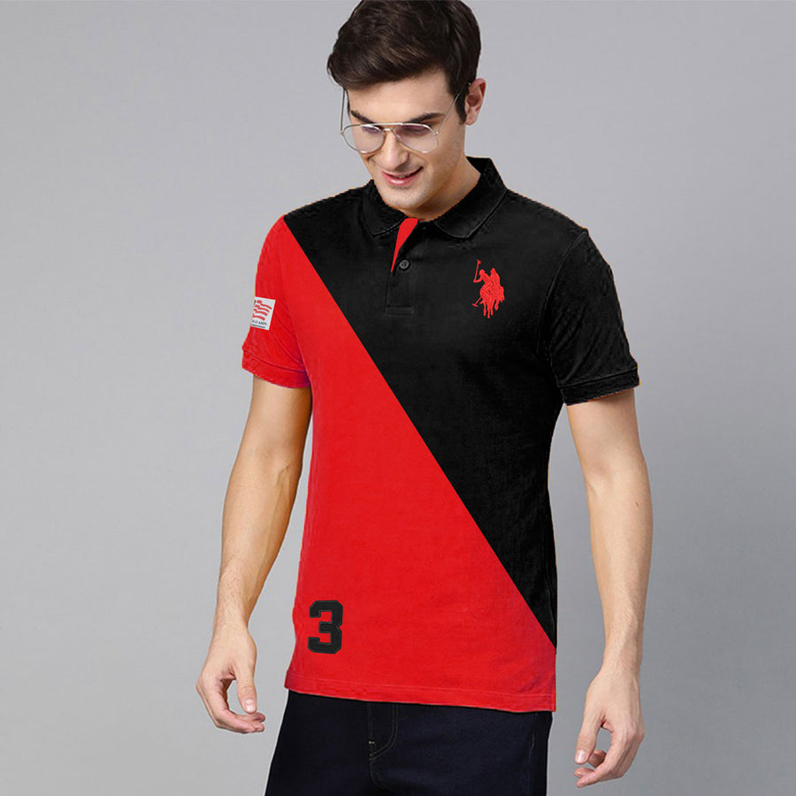 Color Block Half Rut Flex Polo