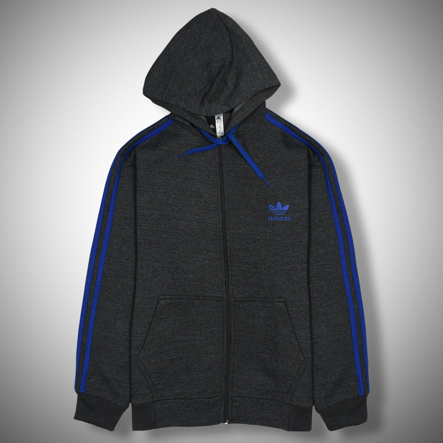 Charcoal 3 stripes Heavy Fleece Hoodies