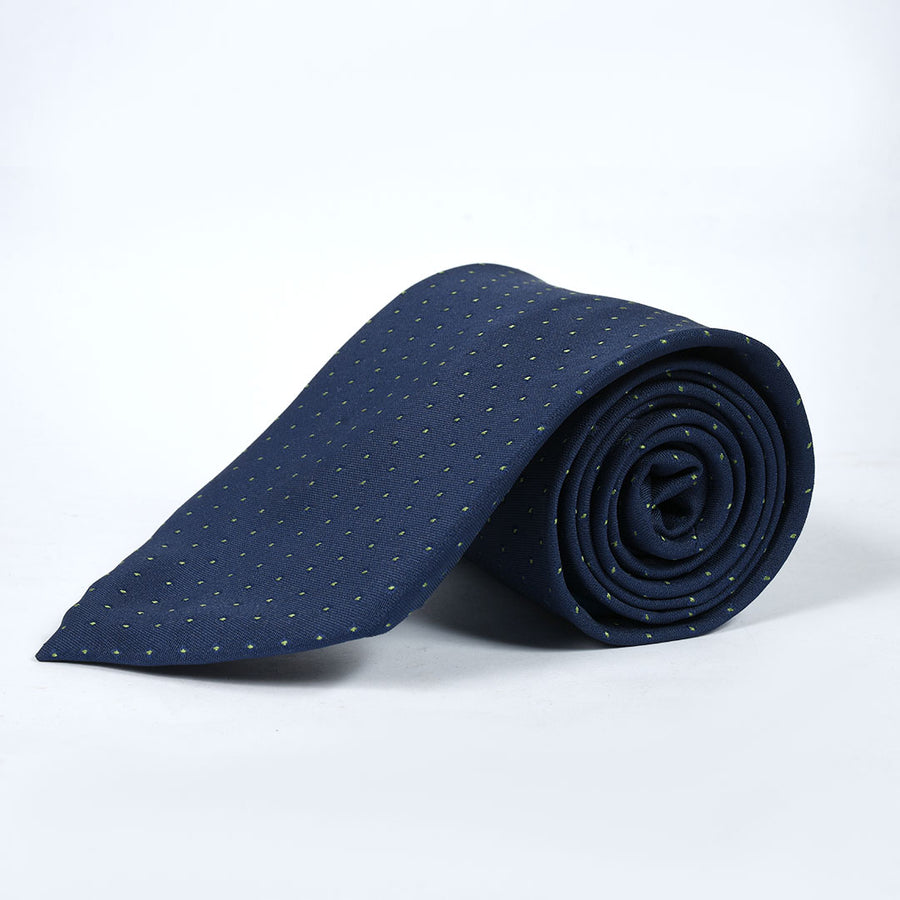 Pin Dots Dark Navy Silk Tie