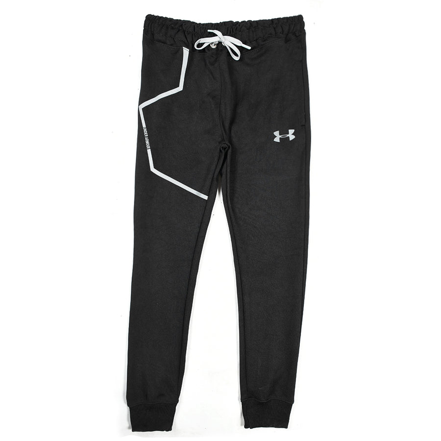 LIGHTNING FLASH BLACK TRAINING TRACK TROUSER