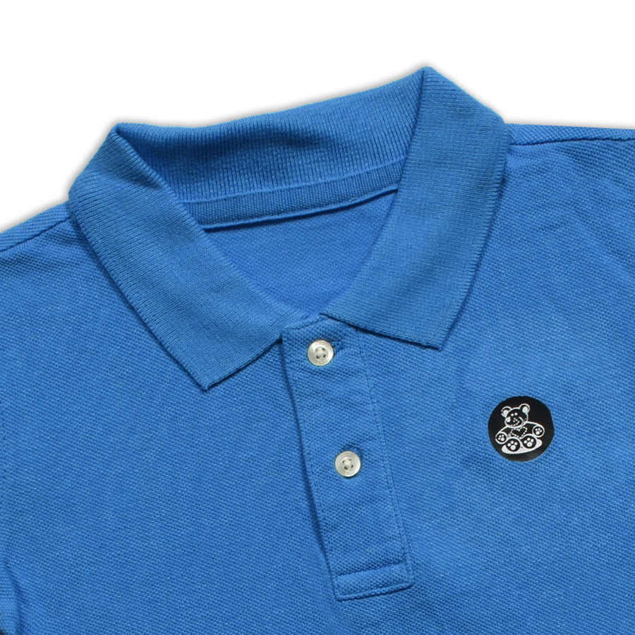 BOYS TEDDY BEAR LOGO PATCH POLO SHIRT WITH MINOR FAULT ( 2 YEARS TO 8 YEARS)