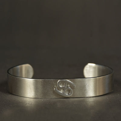 Men Stainless steel Zodiac Classic design cuff bangle