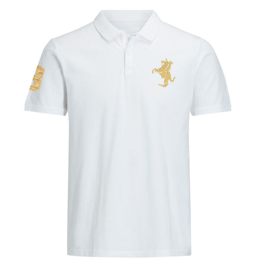 Left chest premium logo Flex white Polo