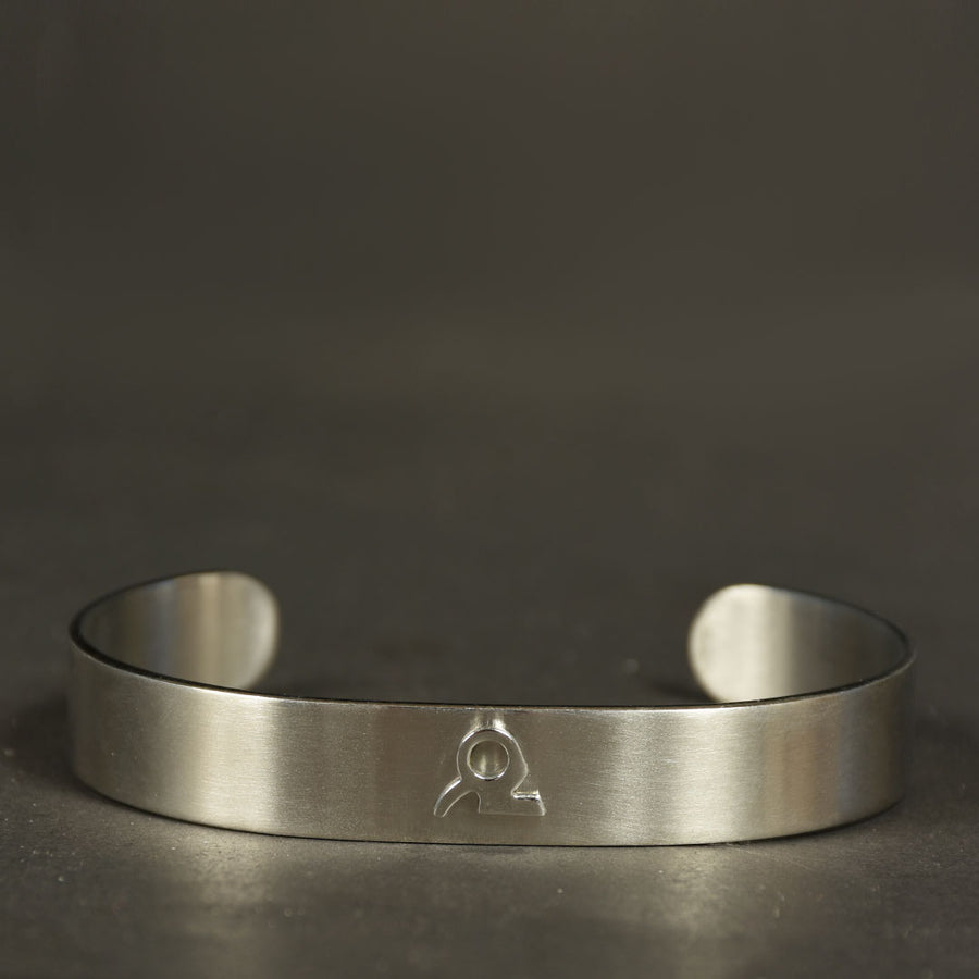 Minimalist Stainless Zodiac Signs Shiny Cuff Bangle