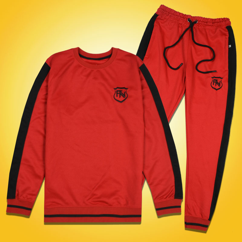 Funkys FN Side Panel Premium Red Track Suit