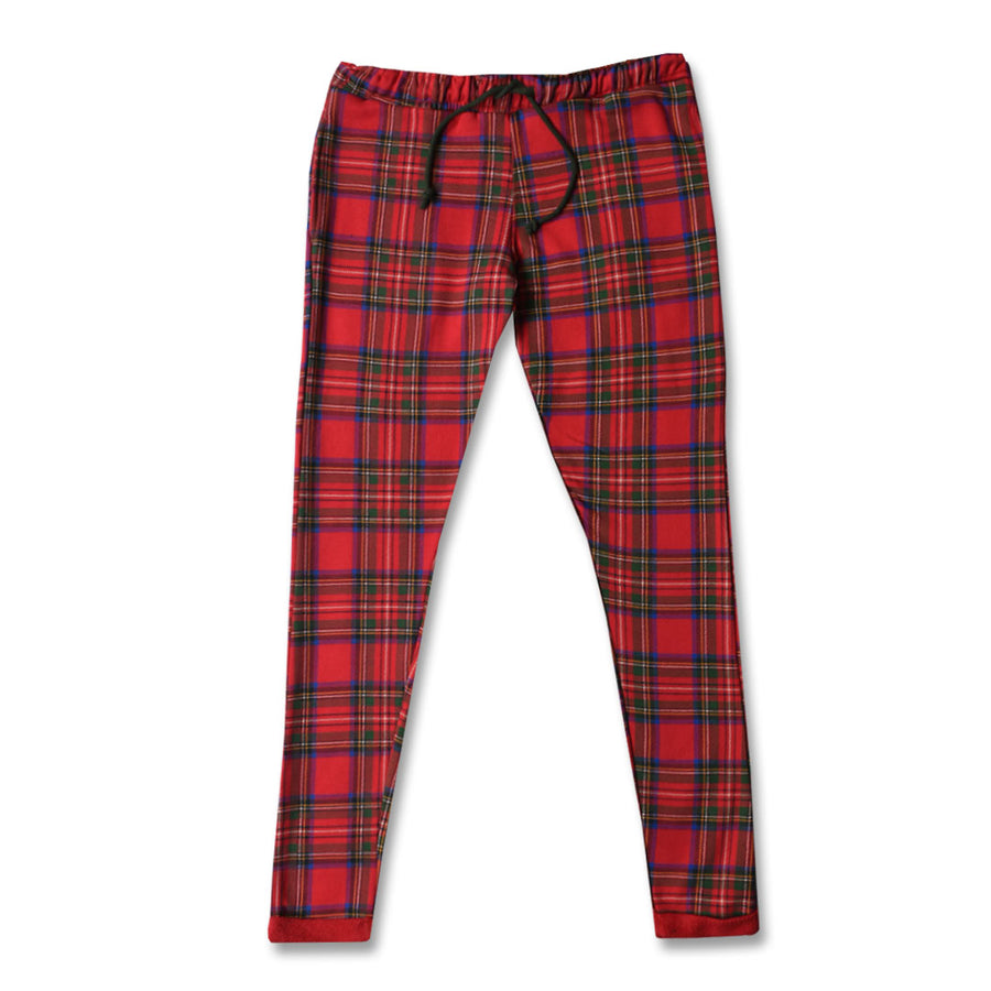 ZR WOMEN CLASSIC CHECKED TERRY TROUSER