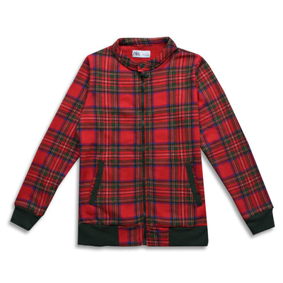 ZR WOMEN CLASSIC CHECKED TERRY JACKET
