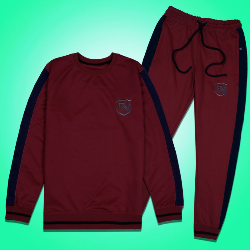 Funkys FN Side Panel Premium Dark Maroon Track Suit