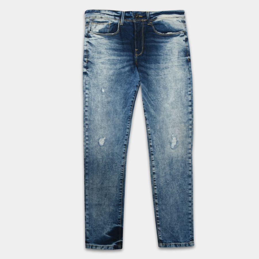 J.HB Ripped Medium Blue Flex Denim