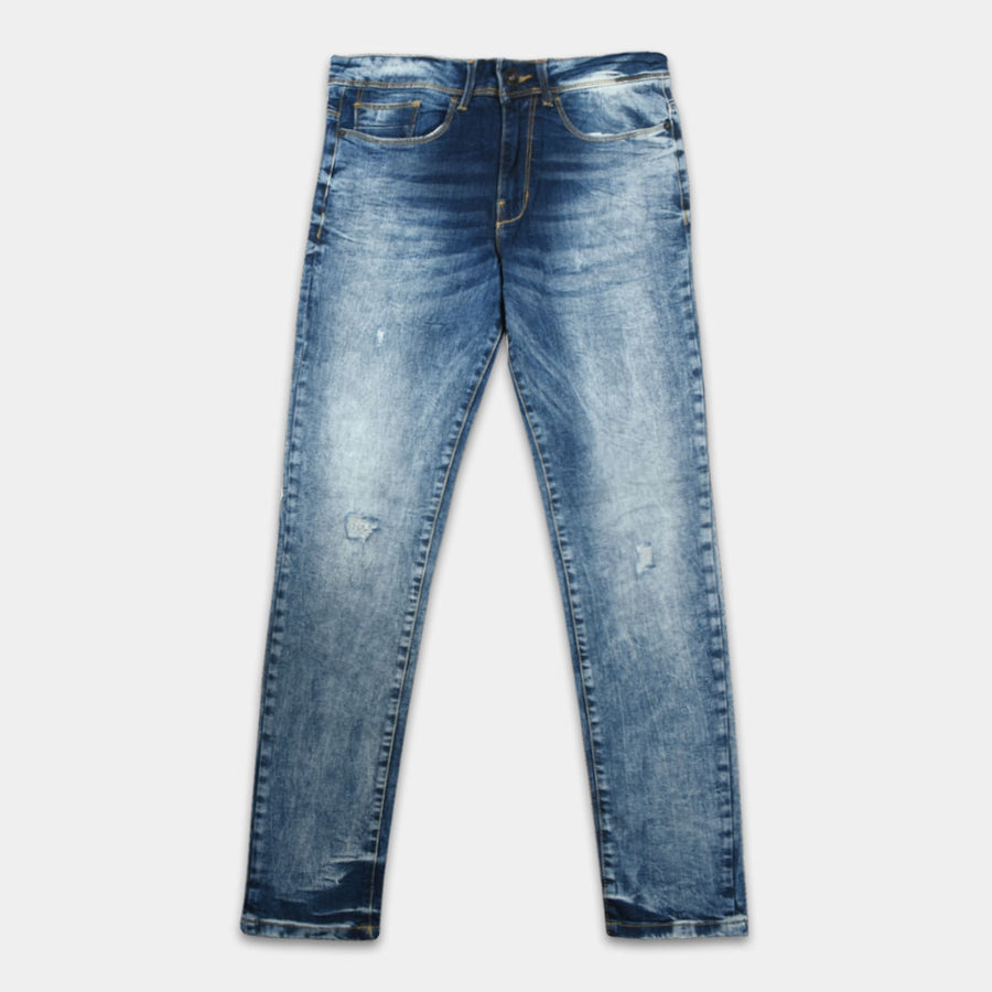 J.HB Ripped Steel Blue Flex Denim
