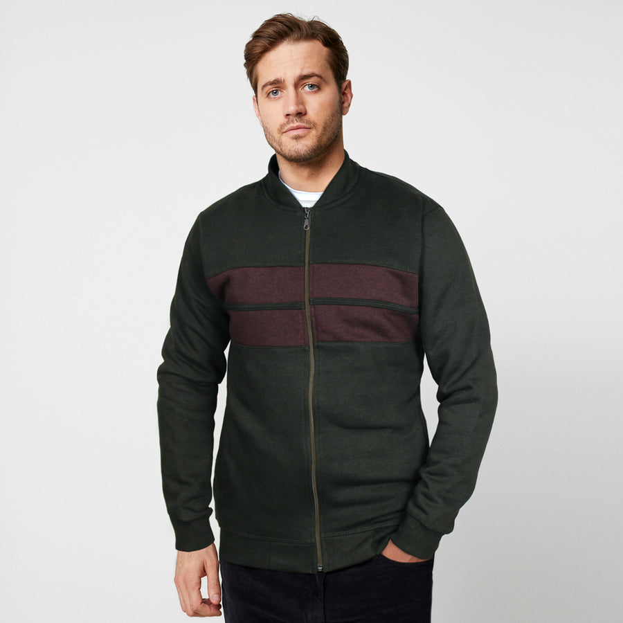 ZR GREEN CONTRAST PANEL BOMBER