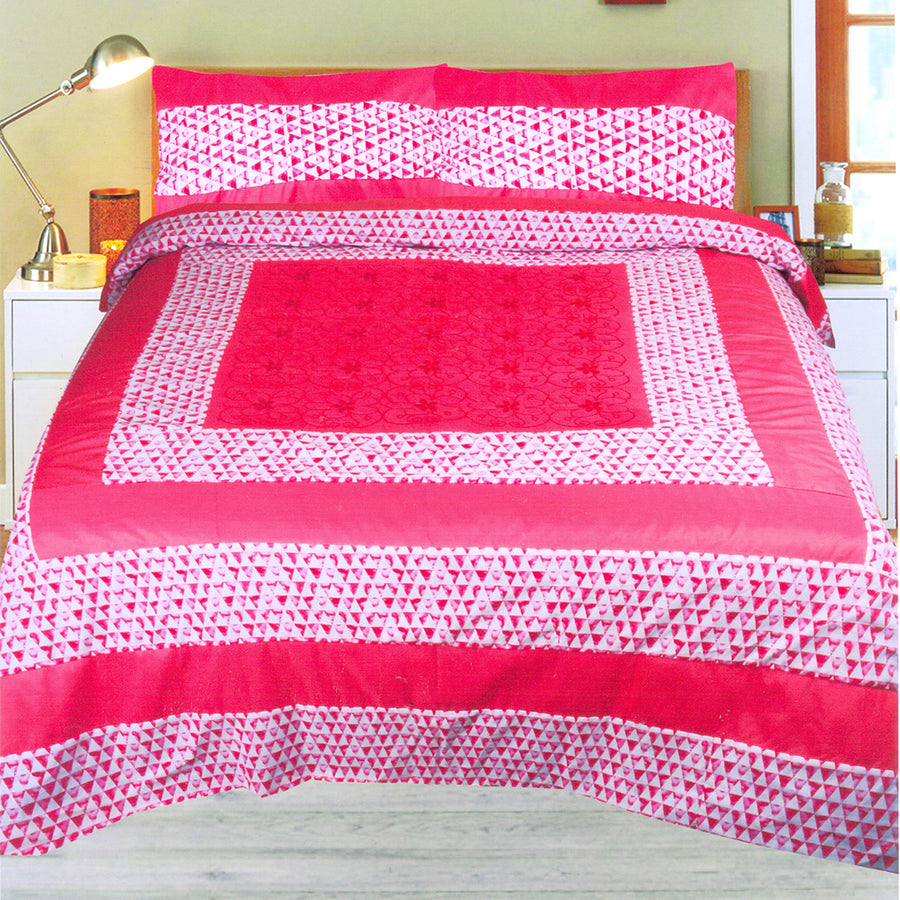FUNKY'S Abstract Pattern CENTER PATCHED BED SHEET