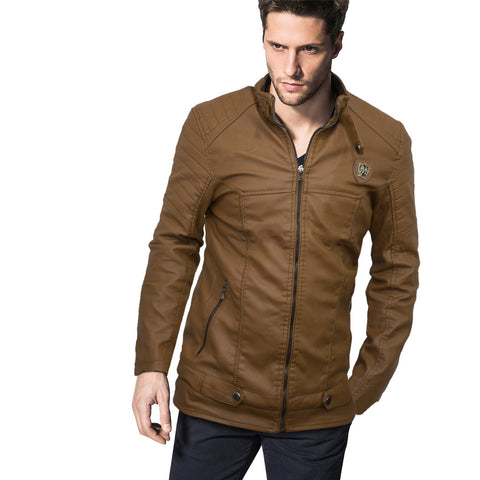 Massimo Dutti Levare Leather Biker Jacket - Deeds.pk