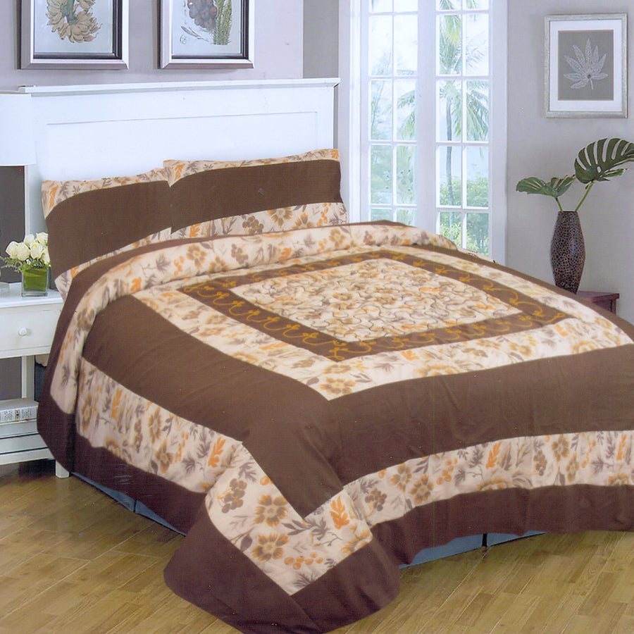 Funky's Dark Brown Center Patched Bed Sheet